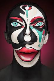 photog uses face paint to create stunning portraits that look two dimensional
