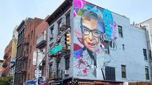 A distinguishing characteristic of mural painting is that the architectural elements of the given space are harmoniously incorporated into the picture. A Giant Ruth Bader Ginsburg Mural Is Going Up In The East Village News Break