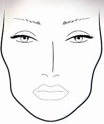 Face Charts To Print Blank Face Diagram Makeup Male Face Template Makeup Artist