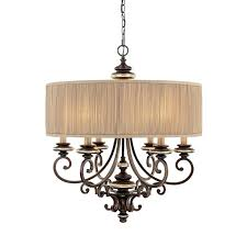 drum light chandelier elk 3 modern bronze