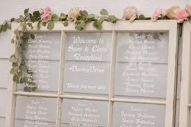 Rustic Wedding Reception Decor White Wash Window Pane