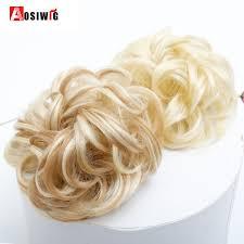 <b>AOSIWIG Short Curly</b> Hair Heat Resistant Synthetic <b>Chignons</b> ...