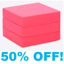 Single Chair Bed Foam Cube - With Pink Cotton Cover
