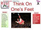 think on ones feet