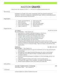 Esthetician Resume Sample Objective Resume Sample Resume Objective