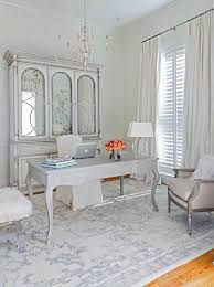 chic home office. Chic Home Offices All White Office French Desk Gorgeous Armoire Chandelier