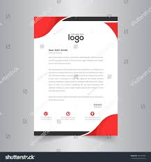 Business Pad Design Vector Business Style Red Color Letter Head Stock Image Download Now