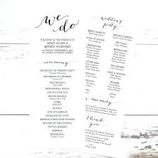 Wedding Sequence Of Events Template Lovely Reception Order