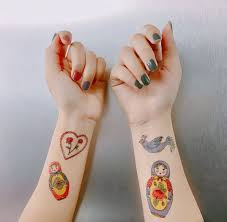 Russian Doll Temporary Tattoo