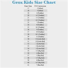 Yoox Shoe Size Chart Geox Size Chart New Geox Sneakers Boy 9 16 Years Online On