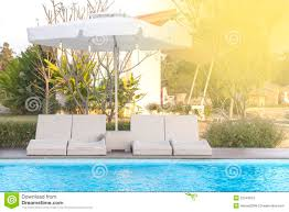 poolside bed stock image image of outdoor interior