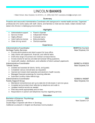 Administrative Coordinator Resume Sample Gallery Creawizard Com