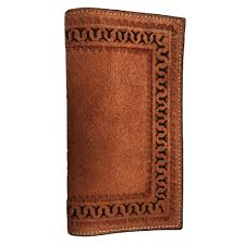 ranger belt company rough out dark tan rodeo leather wallet h14d tactical intent