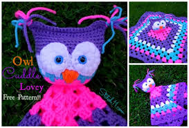 Free Crochet Lovey Pattern Beauteous Owl Cuddle Lovey Stitch48