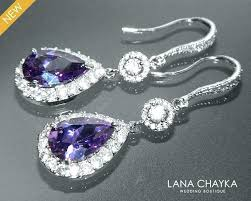 full size of chandelier earrings bridal jewelry teardrop amethyst crystal purple sparkly halo and pearl lighting