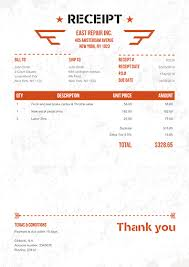 fee receipt format receipt template 100 free receipts send via email