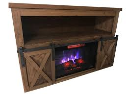 tv fireplace stand. sliding barn door tv stand with fireplace tv