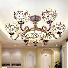 tiffany style ceiling lamps chandelier inch shell decor ceiling lamps style hanging chandelier living room six