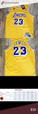 Lebron James Lakers Jersey Throwback Yellow Nwt Lebron James