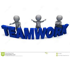 synergy characters shows teamwork collaboration team work stock teamwork shows 3d characters working together royalty stock photos