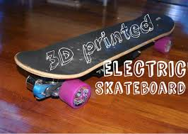 picture of diy 3d printed electric skateboard with 1500w of power