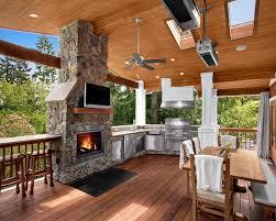 Good Patio Heater In Outdoor Kitchen Design Photo