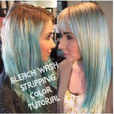 How To Strip Out Colored Hair| Bleach Wash Tutorial| PART 1| - YouTube