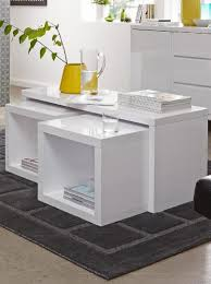 space saving echo coffee table and side tables echo coffee table with 2 pull out side tables in black or white high gl