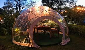 garden dome. The Summerhouse\u0027s Scandinavian-themed Garden Dome, Complete With Fur Throws Dome