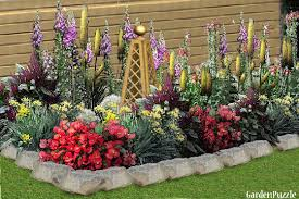 designing a flower garden layout
