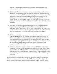confidentiality agreement non disclosure agreementagreement action team volunteer guidebook 7 15