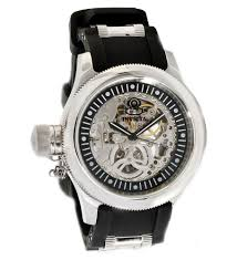 invicta 1843 men s russian diver black rubber strap silver invicta 1843 men s russian diver black rubber strap silver skeleton dial mechanical watch