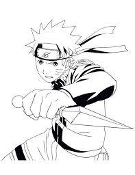Naruto Shippuden Coloring Pages To Print Anime Naruto Coloring