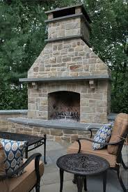 outside stone fireplace outdoor on wood deckbest