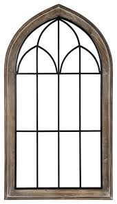 rennel window pane arch wall decor