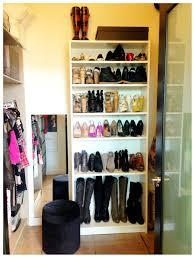 Slim Shoe Cabinet Free Standing White Oak Shoe Racks Mixed Rounded Black Fabric