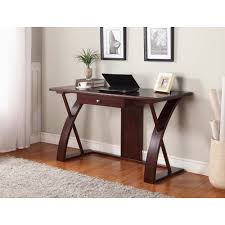 Solid Wood Computer Desk in Dark Brown - Free Shipping Today -  Overstock.com - 18613765