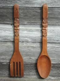 big fork and spoon oversize wooden fork and spoon wall decor new bathroom wall decor