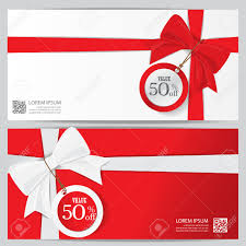 christmas holiday and new year gift voucher certificate coupon illustration christmas holiday and new year gift voucher certificate coupon template can be use for business shopping card customer and promotion