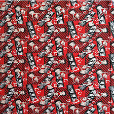<b>105cm</b> Width Sexy Betty Boop <b>Red</b> Cotton Fabric for Baby Girl ...