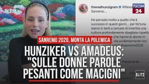 Sanremo 2020, Michelle Hunziker vs Amadeus: