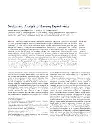 David Gresham Design Pdf Design And Analysis Of Bar Seq Experiments