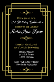 Great Gatsby Invitation Template Customizable Design Templates For Gatsby Postermywall