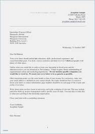 Generic Resume Cover Letter Format Email Cover Letter Template Ideas
