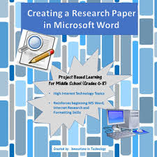 Creating A Research Paper In Microsoft Word By Innovations In Technology