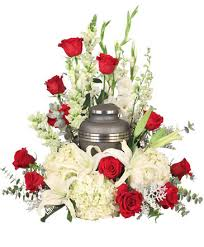 missing you urn cremation flowers urn not included