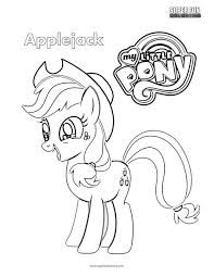 Applejack My Little Pony Coloring Page Super Fun Coloring