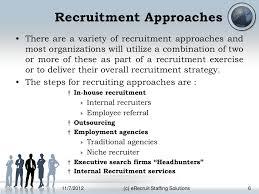 recruitment process approach