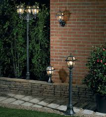 garden lamp post. Black And Silver Half Height Garden Lamp Post T