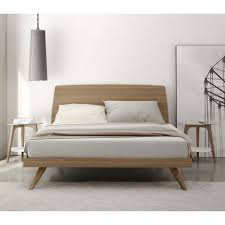 danish modern wood bed